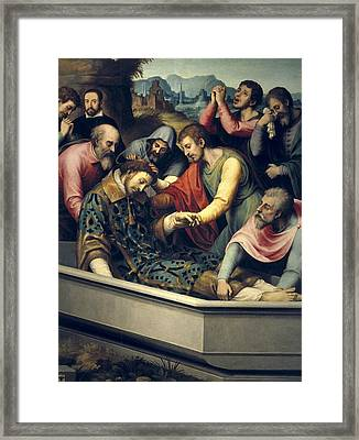 Juanes, Juan De 1523-1579. The Burial Framed Print by Everett