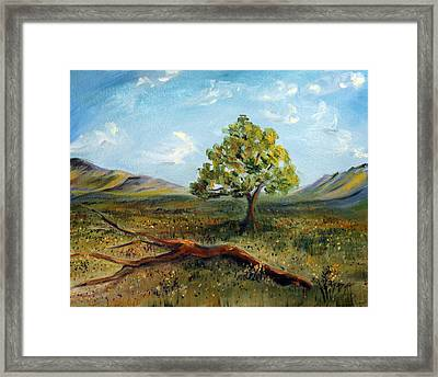 Framed Print featuring the painting Jubilant Fields by Meaghan Troup