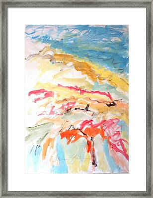 Framed Print featuring the painting Jubilation by Esther Newman-Cohen