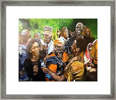 Jubilation Series- Pres Obama's Grandmothers Village Framed Print by Michael Mahue Moore