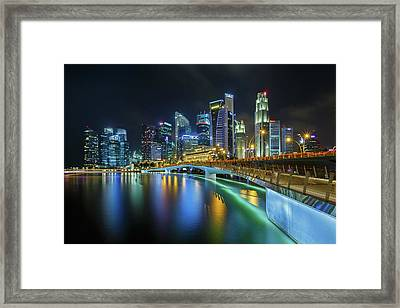 Jubilee Bridge Singapore Framed Print by Photography By Spintheday