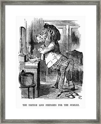 Jubilee Cartoon, 1887 Framed Print