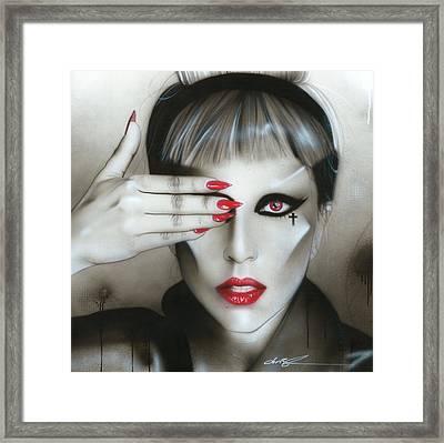 Lady Gaga - ' Judas Iscariot ' Framed Print by Christian Chapman Art