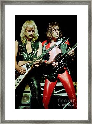 Judas Priest At The Warfield Theater During British Steel Tour Framed Print