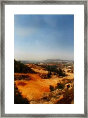 Judean Hills Pop Art Framed Print by Doc Braham