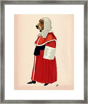 Judge Dog Full Framed Print by Kelly McLaughlan
