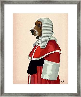 Judge Dog Portrait Framed Print by Kelly McLaughlan