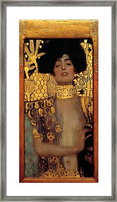 Judith And The Head Of Holofernes Framed Print by Gustav Klimt
