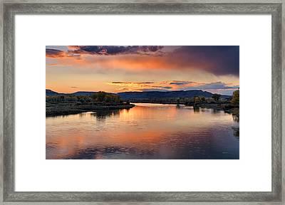 Judith Landing Sunset Framed Print by Leland D Howard