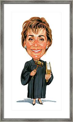Judith Sheindlin As Judge Judy Framed Print by Art