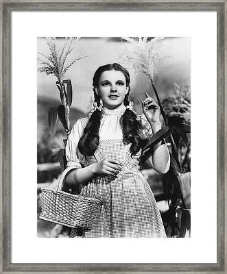 Judy Garland As Dorothy Framed Print by Underwood Archives