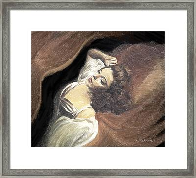 Judy Garland - Beauty Dream Framed Print by Angela A Stanton
