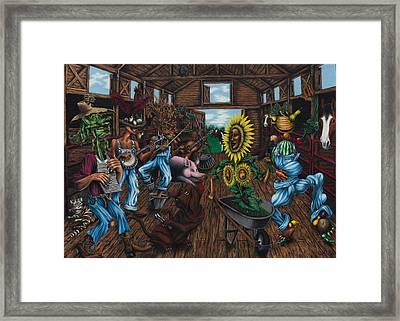Jug Band  Framed Print by Ned Shuchter
