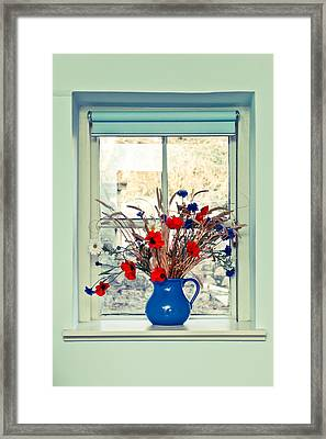 Jug Of Flowers Framed Print