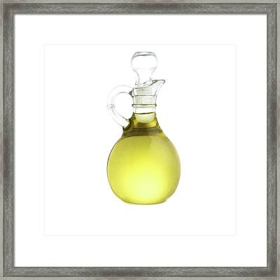 Jug Of Olive Oil Framed Print by Science Photo Library