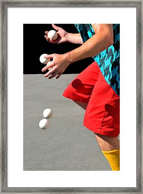 Juggler Framed Print by Diana Angstadt