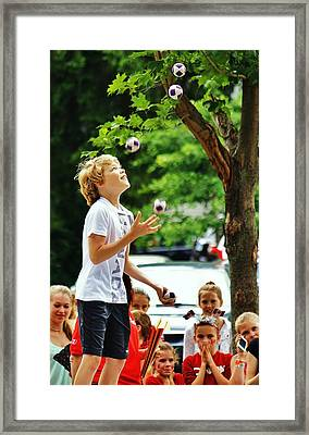 Framed Print featuring the photograph Juggling... by Al Fritz