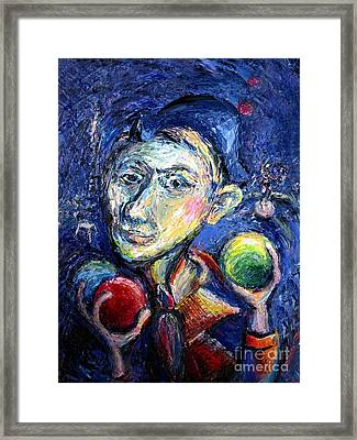 Juggling In Paris Framed Print by Frederick  Luff