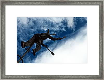 Juggling Statue Framed Print by Jess Kraft
