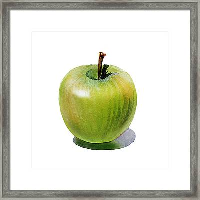 Juicy Green Apple Framed Print by Irina Sztukowski