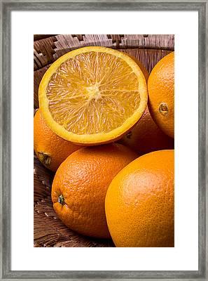 Juicy Orange Framed Print by Garry Gay