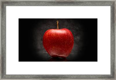 Aaron Berg Photography Framed Print featuring the photograph Juicy Red Apple by Aaron Berg