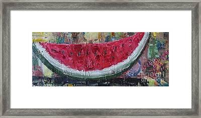 Juicy Watermelon Slice - Sold Framed Print
