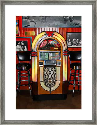 Juke Box Framed Print by James Stough