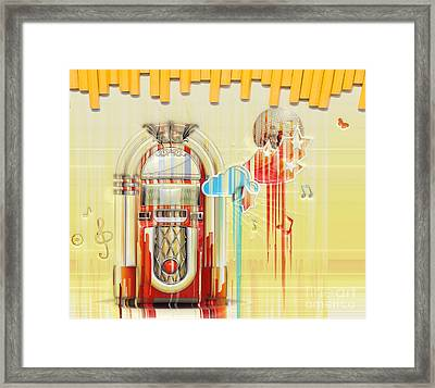 Juke Box Framed Print by Liane Wright