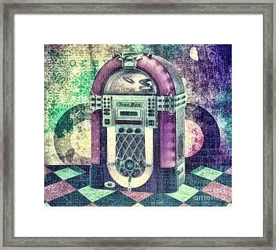 Juke Box Framed Print by Mo T