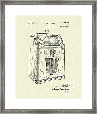 Jukebox 1938 Patent Art  Framed Print