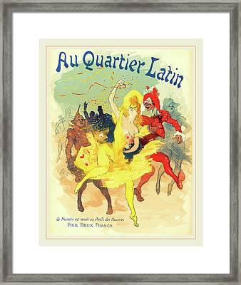 Jules Chéret French, 1836-1932, Au Quartier Latin Framed Print