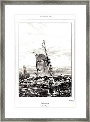 Jules Dupré French, 1811 - 1889. Mill In The Sologne Framed Print