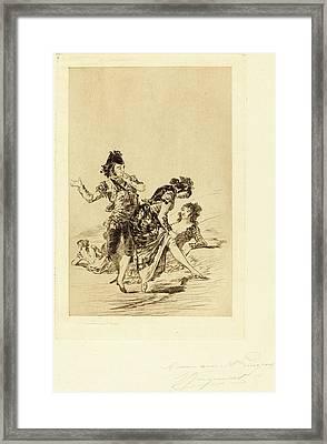 Jules-ferdinand Jacquemart After Francisco De Goya French Framed Print