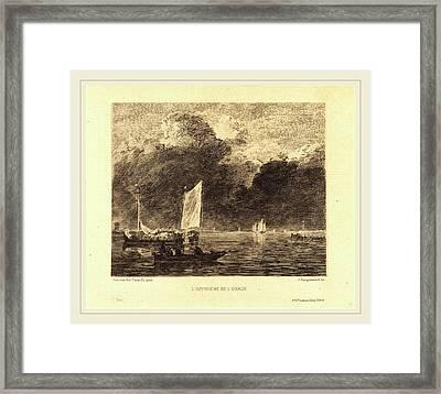 Jules-ferdinand Jacquemart After Jan Van De Cappelle French Framed Print by Litz Collection