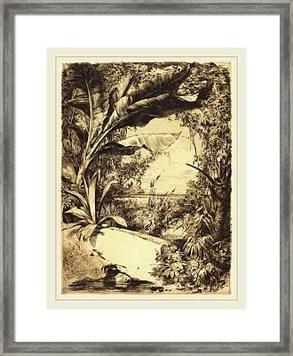 Jules-ferdinand Jacquemart French, 1837-1880 Framed Print