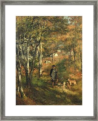 Jules Le Coeur In The Forest Of Fontainebleau, 1866 Framed Print by Pierre Auguste Renoir