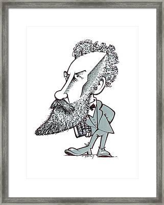 Jules Verne Framed Print by Gary Brown