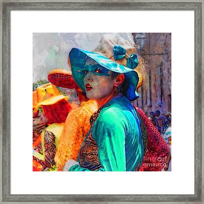 Julia At The Parade Framed Print