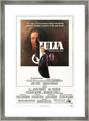 Julia, Us Poster Art, Vanessa Redgrave Framed Print by Everett