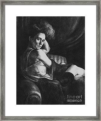 Julia Framed Print by Yvonne Wright