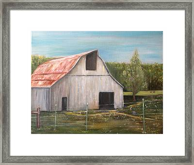 Julian Homestead Barn Framed Print