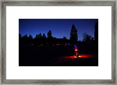 Julian Night Lights 2013 Framed Print