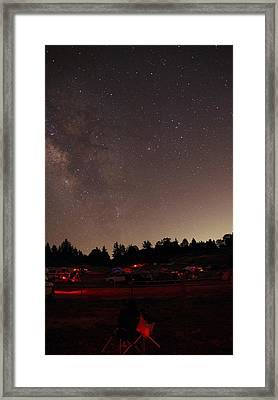 Julian Night Sky Milky Way Framed Print