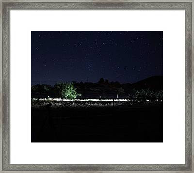 Julian Night Sky Framed Print