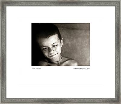 Julian Rosales Framed Print by Tina Manley