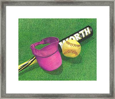 Julia's Game Framed Print by Troy Levesque