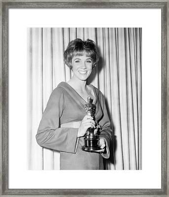 Julie Andrews, With Her Best Actress Framed Print by Everett