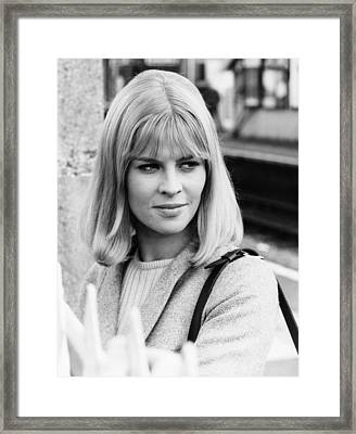 Julie Christie, At The Time Framed Print
