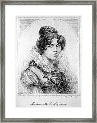 Julie De Lespinasse (1732-1776) Framed Print by Granger